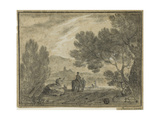 Roman Campagna with Figures, 1756 Giclee Print by Richard Wilson