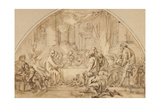 Study for the Last Supper, C.1792 Giclee Print by Jean-Baptiste Huet