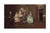 John Thomlinson and His Family, 1745 Giclee Print by Arthur Devis