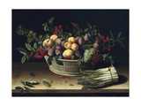 Still Life with a Basket of Fruit and a Bunch of Asparagus, 1630 Giclee Print by Louise Moillon