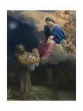 The Vision of Saint Francis, C.1602 Giclee Print by Lodovico Carracci