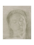 Closed Eyes, 1890 Giclee Print by Odilon Redon