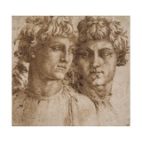 Two Studies of the Head of a Youth, C.1550 Giclee Print by Baccio Bandinelli