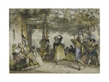 Spanish Peasants Dancing the Bolero, 1836 Giclee Print by John Frederick Lewis