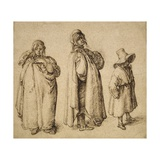 Three Gypsies, C.1605 (Pen and Ink on Paper) Giclee Print by Jacques II de Gheyn