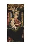 Virgin and Child Enthroned with Two Angels Holding a Crown, 1505-15 Giclee Print by Michele Ciampanti