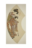 The Courtesan Hanaogi of the Ogiya and Her Attendant, C.1777-78 Giclee Print by Isoda Koryusai
