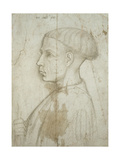 Bust of a Young Man in Profile, 1430-40 Giclee Print by Giovanni Badile