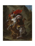 Arab Horseman Attacked by a Lion, 1849-50 Giclee Print by Ferdinand Victor Eugene Delacroix
