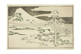 Mount Fuji in Winter, from the Picture Book of Realistic Paintings of Hokusai, C.1814 Giclee Print by Katsushika Hokusai