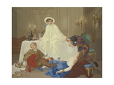 The Supper after the Masked Ball, C.1855 Giclee Print by Thomas Couture