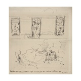 Sketch of the Peacock Room, 1898 Giclee Print by James Abbott McNeill Whistler