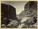 Head of Cañon De Chelle, Looking Down. Walls About 1200 Feet in Height, 1873 Photographic Print by Timothy O'Sullivan