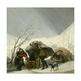 Winter Scene, C.1786 Giclee Print by Francisco de Goya