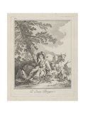 The Young Shepherdess, Plate Two from Divers Habillements Des Peuples Du Nord, 1765 Giclee Print by Jean-Baptiste Le Prince
