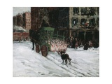The Butcher Cart, 1901 Giclee Print by George Luks