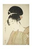 Woman Holding a Round Fan, C.1797 Giclee Print by Kitagawa Utamaro