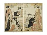 Entertainers of Nakazu, C.1784 Giclee Print by Torii Kiyonaga