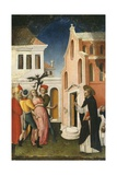 Saint Peter Martyr Exorcising a Woman Possessed by a Devil, 1440-50 Giclee Print by Antonio Vivarini