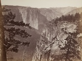 First View of the Yosemite Valley from the Mariposa Trail, 1865-66 Photographic Print by Carleton Emmons Watkins