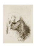 Study: Maud Seated, 1878 Giclee Print by James Abbott McNeill Whistler