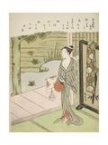 Poem by Fujiwara No Toshiyuki, from an Untitled Series of Thirty-Six Immortal Poets, C.1767-68 Giclee Print by Suzuki Harunobu