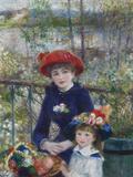 Two Sisters (On the Terrace), 1881 Giclee-trykk av Pierre Auguste Renoir