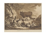 O How Extremely Happy Could Farmers Be, 1768 Giclee Print by Jean-Baptiste Le Prince