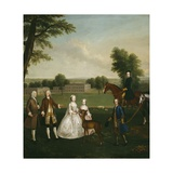 Thomas Lister and Family at Gisburne Park, 1740-41 Giclee Print by Arthur Devis
