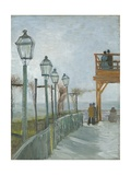 Terrace and Observation Deck at the Moulin De Blute-Fin, Montmartre, Early 1887 Giclee Print by Vincent van Gogh