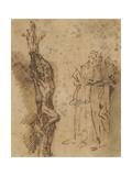 Study for Polycrates Crucifixion, C.1662 Giclée-tryk af Salvator Rosa