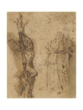 Study for Polycrates Crucifixion, C.1662 Giclee Print by Salvator Rosa