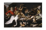 Still Fife with Dead Game, Fruits, and Vegetables in a Market, 1614 Giclee Print by Frans Snyders