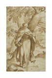 Saint Dominic Reading, C.1575 Giclee Print by Bartholomaeus Spranger