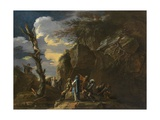 Polycrates' Crucifixion, C.1664 Giclee Print by Salvator Rosa
