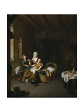 A Mother Feeding Her Child (The Happy Mother), 1707 Giclee Print by Willem Van Mieris