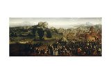 Landscape with Tournament and Hunters, 1519-20 Giclee Print by Jan van Scorel