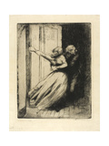 The Rape, Plate Eight from Woman, C.1886 Giclee Print by Paul Albert Besnard