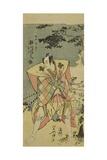 Ichikawa Monnosuke II as Haya No Kanpei in Chushingura Nagori No Kura Giclee Print by Kitao Masanobu