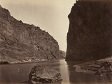 Black Cañon, Colorado River, Looking Below, Near Camp 7, 1871 Photographic Print by Timothy O'Sullivan