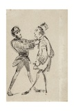 Policeman and Citizen, 1855 Giclee Print by James Abbott McNeill Whistler