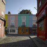 Multi Coloured Houses, Portobello Road, London Photographic Print by Richard Bryant