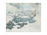Icebound, C.1889 Giclee Print by John Henry Twachtman