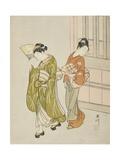 Clearing Breeze from a Fan (Ogi No Seiran), C.1766 Giclee Print by Suzuki Harunobu