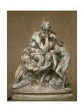 Study for the Sculpture 'Ugolino and His Children', 1860 Giclee Print by Jean-Baptiste Carpeaux