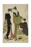 Flowers of the Doteshita District (Dotebana), C.1783 Giclee Print by Torii Kiyonaga
