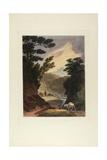 View Near the Schuylkill Falls, Pennsylvania, 1819-21 Giclee Print by John Hill