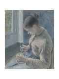 Young Peasant Having Her Coffee, 1881 Reproduction procédé giclée par Camille Pissarro