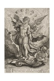 St Michael Triumphing over the Dragon, 1584 Giclee Print by Hieronymus Wierix