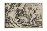The Death of Hercules, from the Labours of Hercules, 1548 Giclee Print by Hans Sebald Beham
